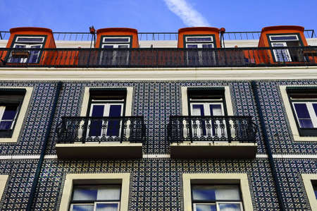 portugal, houses, porch, railings, building, balcony Stock Photo - 8118732