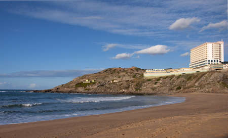 oceanfront: Portugal oceanfront hotel for tourists, a beautiful landscape
