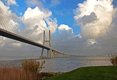 commissioned: The new highway over the river Tagus in Lisbon, was commissioned in