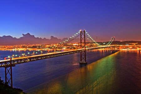 Portugal Lisbon Bridge on April 25 architecture photo