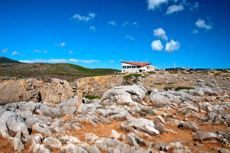 Portugal mountain home nature landscape sky clouds shrubs photo