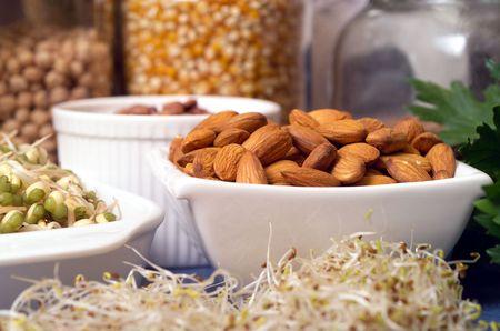 Still life of variety of Healthy Foods
