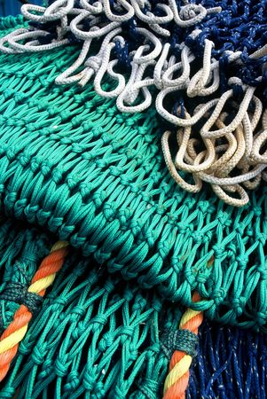 commercial fishing: Detail of Commercial Fishing Net