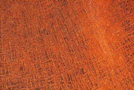 cross hatch: Vibrant orange rust and cross hatch pattern on sheet metal