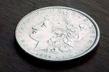 1889 USA Morgan Silver Dollar with a classic head of Liberty Stock Photo - 1313356