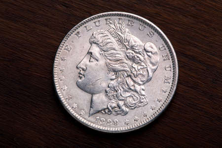 1889 USA Morgan Silver Dollar with a classic head of Liberty Stock Photo - 3074696