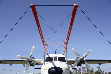 geophysical: Geophysical Survey Plane fitted with external radar and electromagnetic survey  Stock Photo
