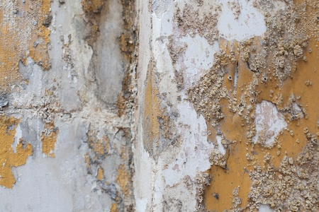Close up detail of salt damp texture on exterior building wall, also known as rising damp Stock Photo - 9700819