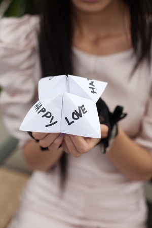 cootie catcher: Folded paper word game known as Chatterbox, Cootie Catcher, Fortune Teller, Salt Cellar or Whirlybird