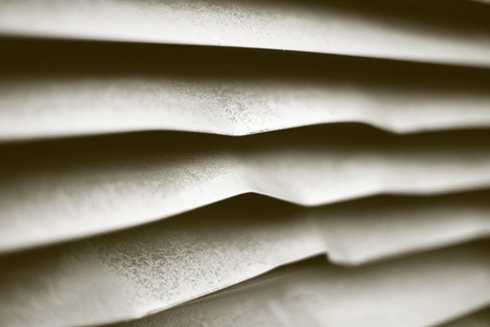airflow: Abstract view of the bent panels of a commercial Airconditioner Vents Stock Photo
