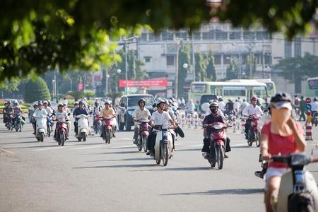 Saigon-October 14 Saigon(Ho Chi Min City),populated by more than 9 million people,is the most populous metropolitan area in Vietnam. October 14, 2009 Saigon,Vietnam.