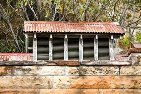 Detail view of old sandstone building made from large blocks of sandstone Stock Photo - 16870356