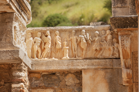 hadrian: Temple of Hadrian in the Ancient Greek city of Ephesus located in the Izmir Province, Turkey