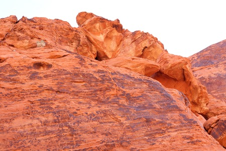 Rock formations and landscape of the Valley of Fire State\ Park Nevada, USA.