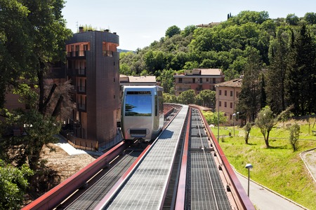 traction: Minimetro Railway Perugia, is a type of Finicular railway operating on rail but with a traction rope