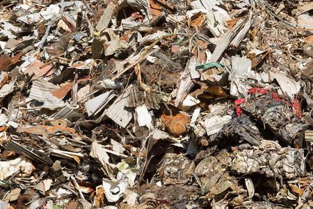 stockpile: Large stockpile of scrap metal awaiting recycling