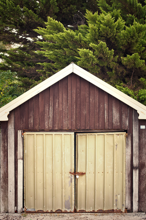 sheds: Old timber Boat sheds on the beach, Hobart, Tasmania