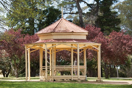 the rotunda: Beautiful old rotunda in the park of a rural town
