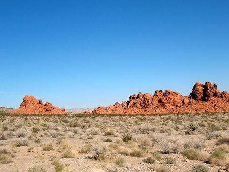 Rocks in Valley of Fire Nevada photo