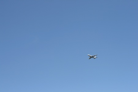 Airplane in a sky photo