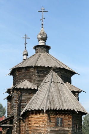 Old wooden church in Suzdal Russia photo