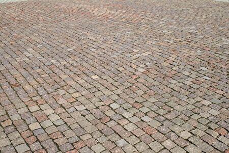 Cobblestone pavement photo
