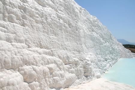 White rocks and travertines of Pamukkale Turkey photo