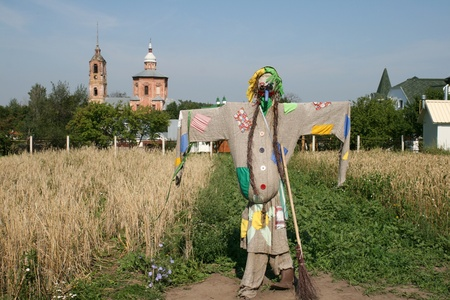 Scarecrow in Suzdal Russia photo