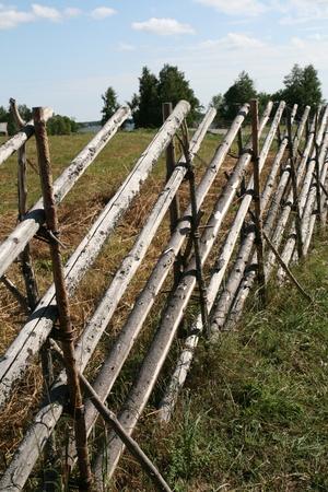 Wooden fence on Kizhi island Russia photo