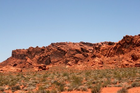 protectorate: Rocks in Valley of Fire Nevada Stock Photo