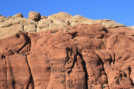 Rocks of Red Red Canyon Nevada photo