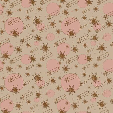 Cinnamon and anise seamless pattern Stock Vector - 15470331