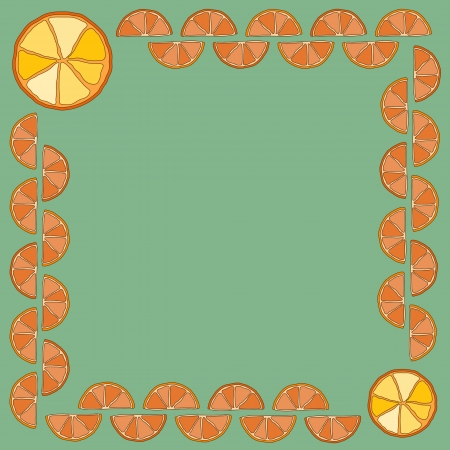 Frame made of orange slices Vector