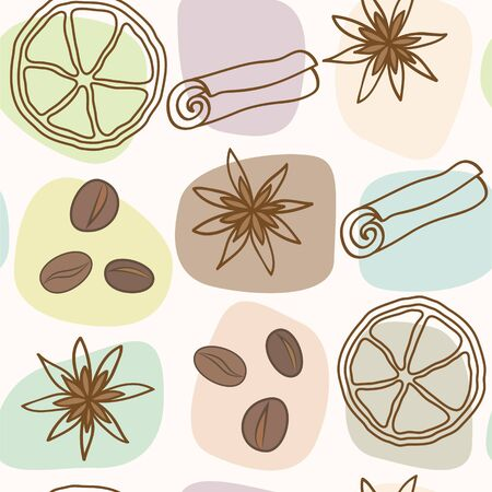 spice and coffee seamless pattern  Stock Vector - 16843319
