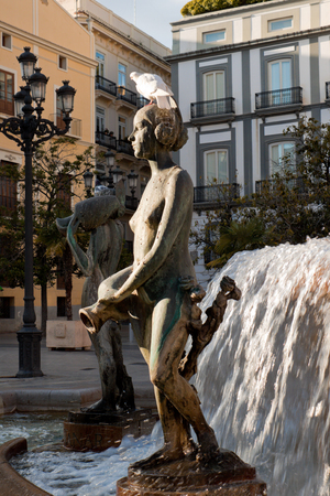 Turia fountain in Valencia, Spain photo