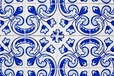 Traditional portuguese tiles, azulejos, in Porto  photo