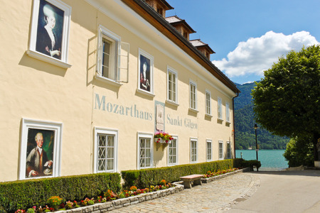 ST  GILGEN, AUSTRIA - JULY 1  Mozarthouse - the place where W  A  Mozart Editorial
