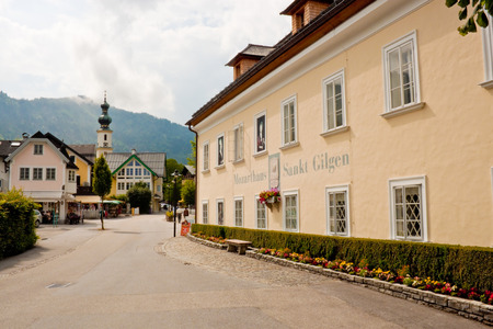 ST. GILGEN, AUSTRIA - JULY 5: Mozarthouse - the place where W. A. Mozart Editorial