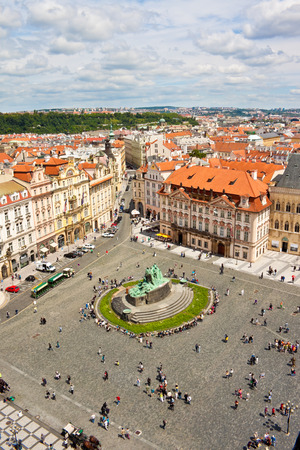 Airview of Old Town Square in Prague, Czech republic