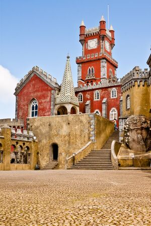 the pena national palace: The Pena National Palace in Sintra Portugal