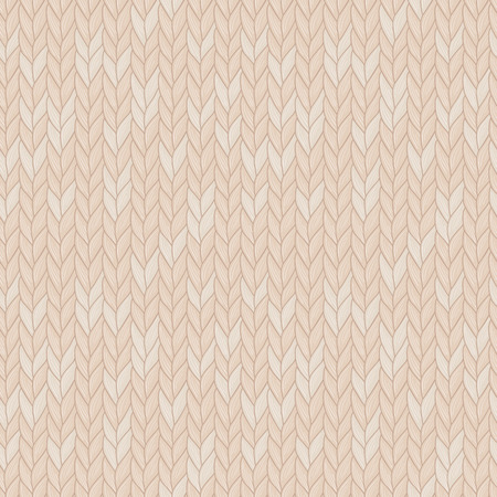 Knitted seamless pattern. Natural warm knitted fabric. Eps, added to swatches.