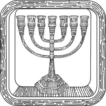 jewish: Icon  the Jewish religious symbol of Judaism Illustration