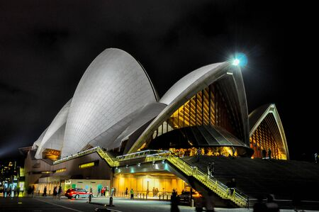 nsw: Sydney Opera House, NSW, Australia : Night Scence Editorial