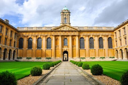 Oxford, UK - September 10, 2011: Inside Oxford university, one of most famous university in the world Editorial