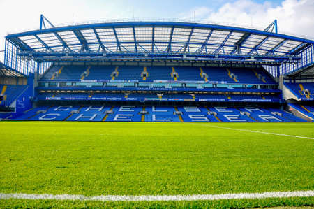 chelsea: London, UK - October 16, 2011: Stand of Stamford Bridge, home ground of Chelsea F.C. Editorial