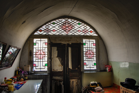 Building interior in Shanxi laoniuwan Editorial