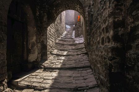 Alley at Shanxi laoniuwan