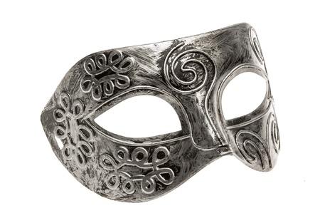 masquerade mask: Plastic toy play mask isolated on white background