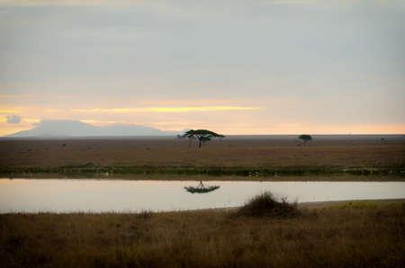 Early morning at Lake Magadi in Serengeti National Park.