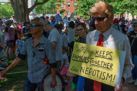 Saturday, June 30, 2018 - Washington, DC - Thousands of protesters gathered in Lafayette Square near The White House in Washington, DC for the Families Belong Together Rally to protest the Trump Administration's policies of separating the children of asyl